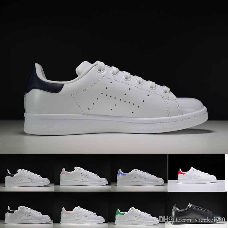 new concept 2099f 5c908 new arrive 2018 Raf Simons Stan Smith Spring Copper White Pink Black  Fashion Shoes Man Casual Leather brand woman man shoes
