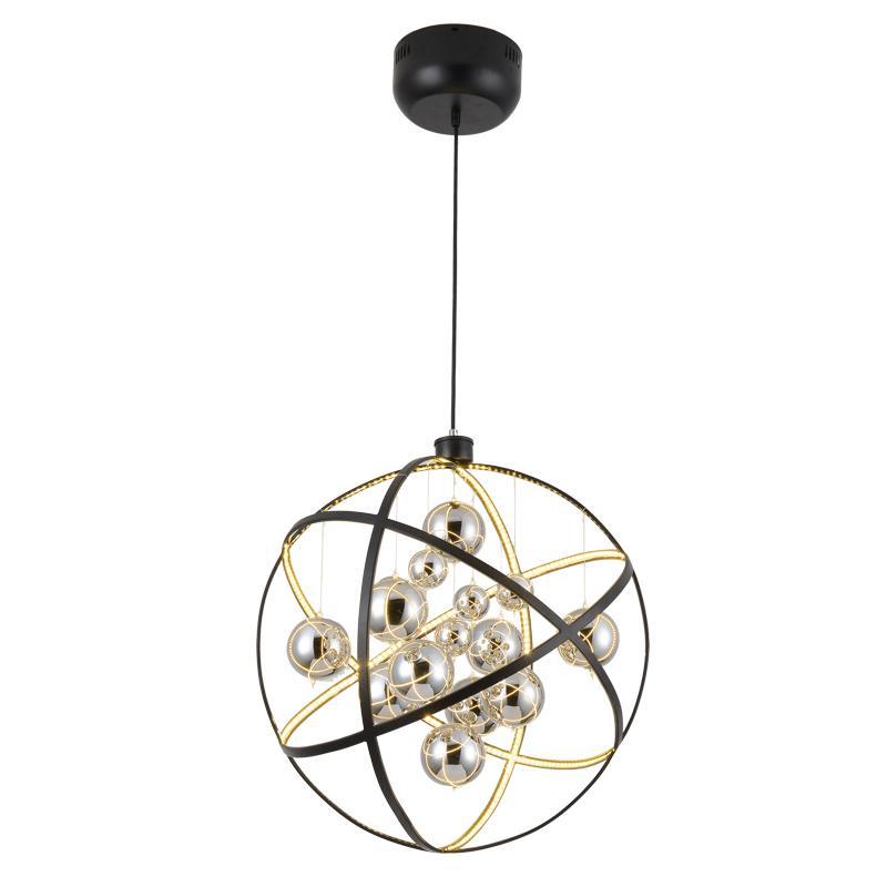 Modern Lamp Suspendue Lumiere Led A Manger Lit Chambre Foyer Rond