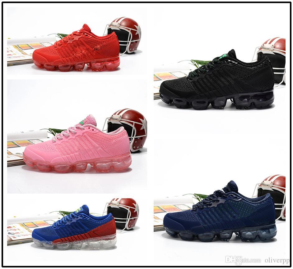 aaf2b19a745 Acheter Nike Air Max Airmax Vapormax 2018 Air Coussin Kpu Chaussures De  Course Enfants Sport Noir Rose Enfants Designer Air Flair Bébé Garçons  Filles Casual ...