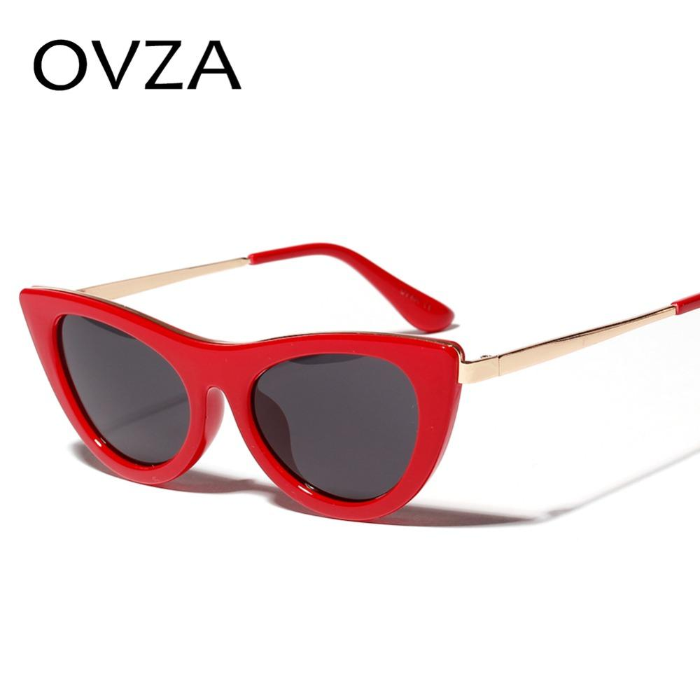 15f30e765d OVZA Classic Cat Eye Sunglasses Retro Women Sunglasses Vintage Red Glasses  Beautiful Designed High Quality Ladies S7056 Eyeglasses Sunglasses Hut From  ...