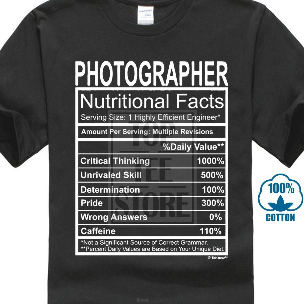 b51c9042b Men'S T Shirt Photographer Gift Nutritional Facts Gag Gifts Funny Young  Mens T Shirt Fashion Shirts