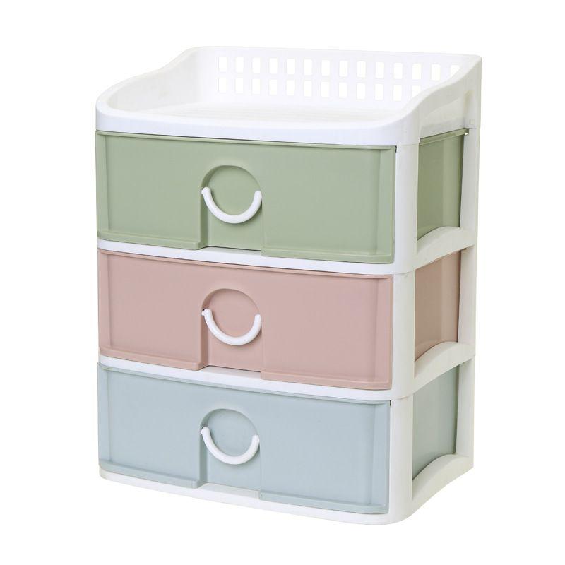 Desktop Drawer Office Supplies Storage Box Plastic Three Layer Sundries  Storage Box File Documents Organize Small Cabinet Drawer Multilayer Plastic  Online ...