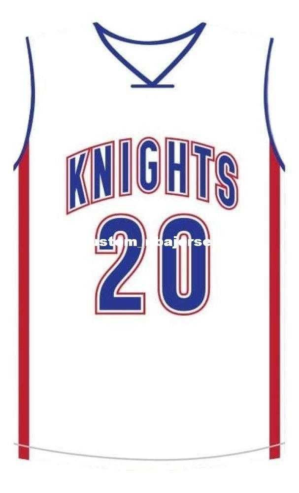 uk availability c8922 8ec08 wholesale Stephen Curry #20 Knights High School Basketball Jersey White  Stitched Custom any number name MEN WOMEN YOUTH BASKETBALL JERSEYS