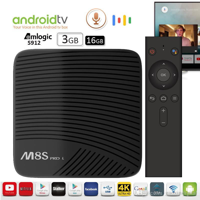 Mecool M8S PRO Internet TV Box 3GB 16GB Octa core Amlogic S912 Best Android  Box Voice control TV Streaming Box support 2 5G/5G WiFi BT4 0 4K