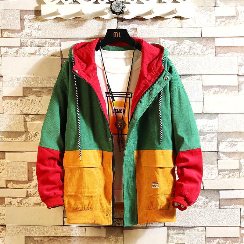 Mens Color Bolck Jacket Corduroy 2018 Men Harajuku Bomber Jackets Coats  Male Korean Autumn Patchwork Windbreaker Online with  45.99 Piece on  Apparelbase s ... 0131d2c27