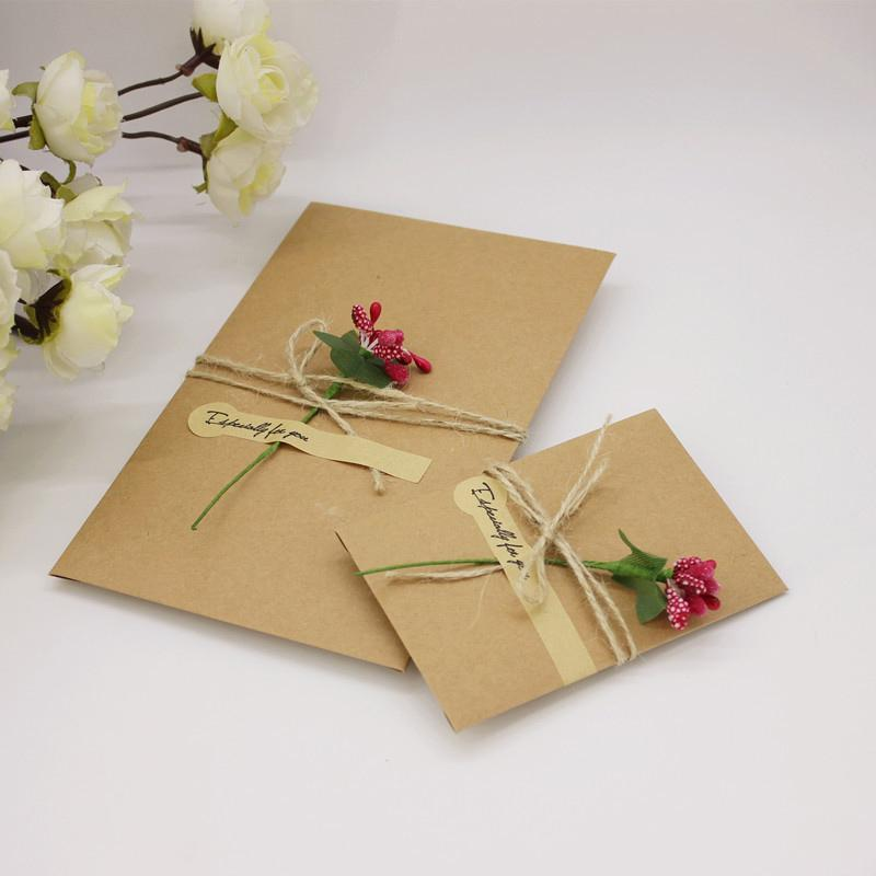 Diy Handmade Present Card With Flower Wedding Inviting Card Simple