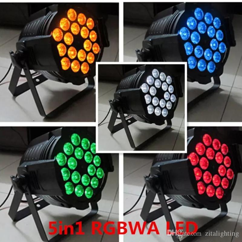 زيتا الإضاءة ألومنيوم سبيكة LED Par 18x15W RGBWA 5 في 1 LED الاسمية Par led الأضواء dj العرض جدار غسل الإضاءة الإضاءة المرحلة تأثير