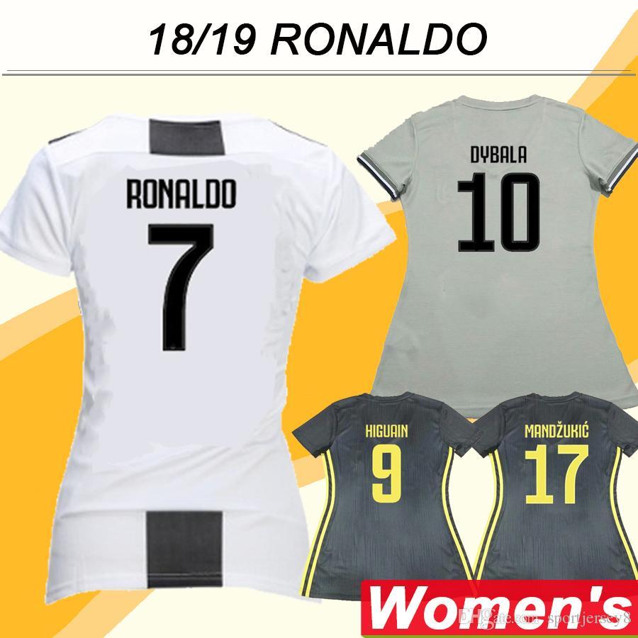 9d5bdacfb 2019 2018 19 Juventus Champions League RONALDO Women Soccer Jerseys HIGUAIN  DYBALA Home Away 3rd Lady Football Shirts Thailand MARCHISIO Uniforms From  ...