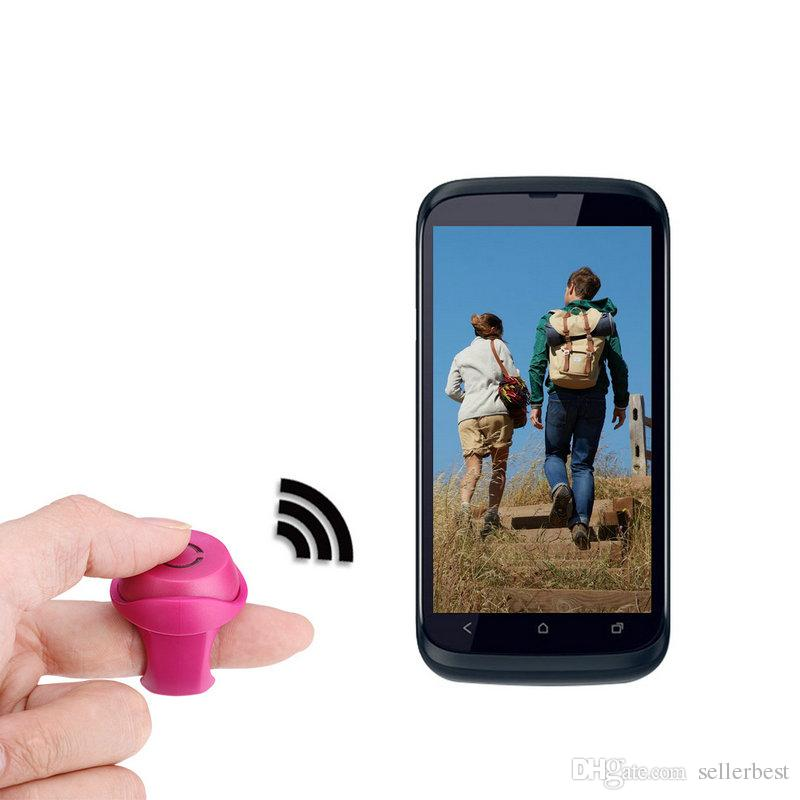 Wireless Shutter Bluetooth Mini Clip-on Remote Control Phone Photo Self-timer for IOS Android Phone Remote Black/Red/Green