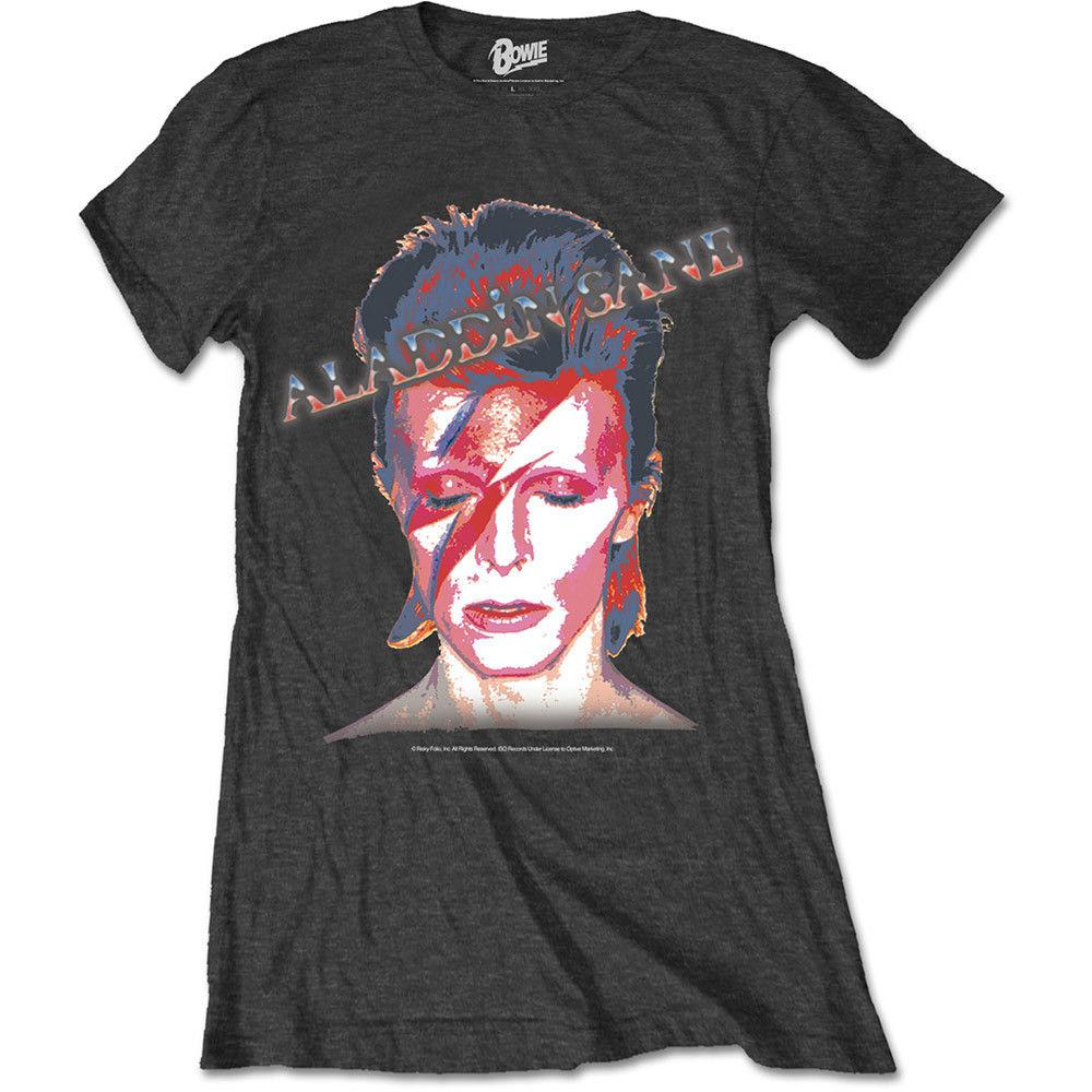1be7ce9711d 2018 David Bowie  Aladdin Sane  Womens Fitted T Shirt NEW   OFFICIAL!  Female Fashion Cotton T Shirt From Shitan10