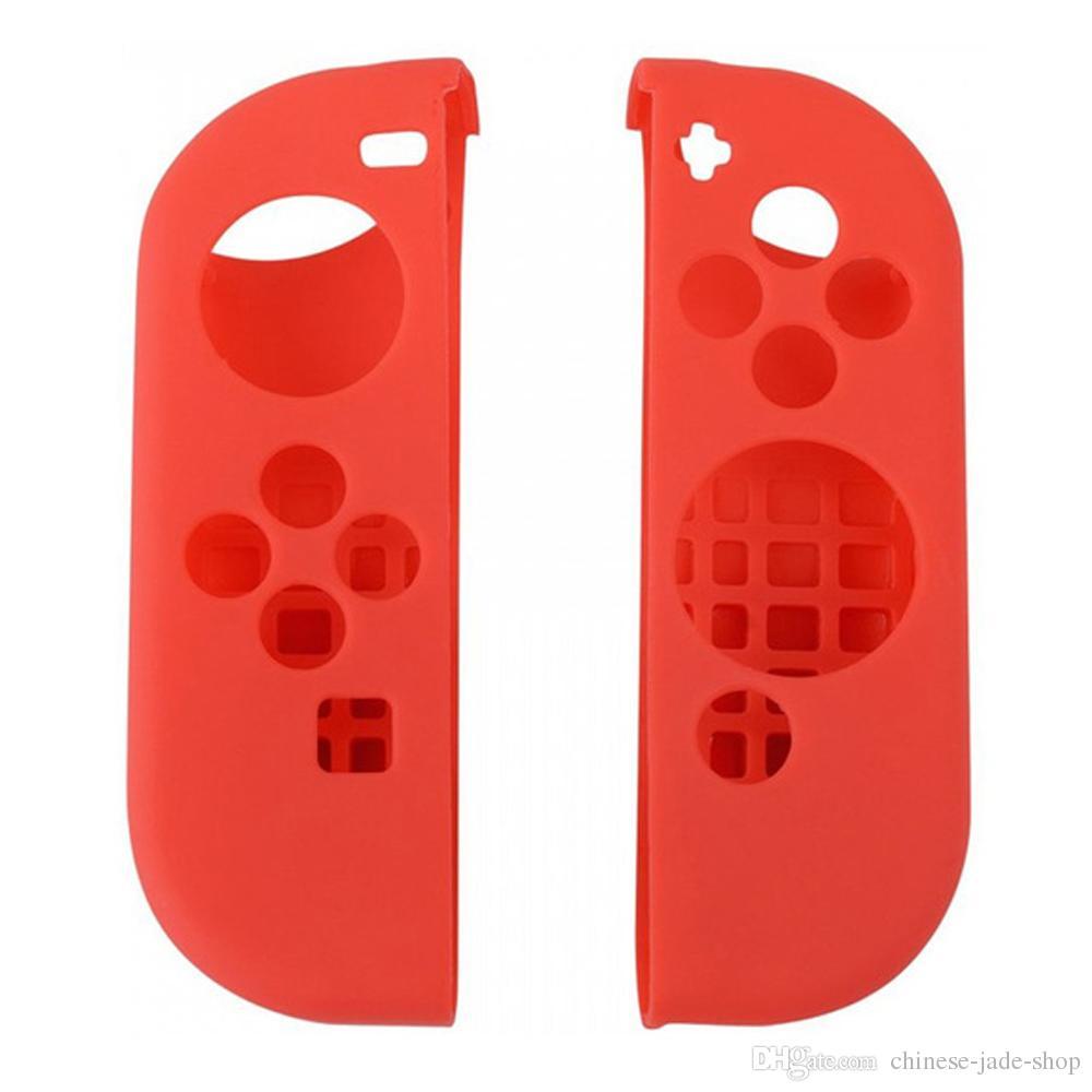 Silikon Silikon Kılıf Koruyucu Yumuşak Kapak Skins Nintendo Anahtarı NS NX Joy-Con Controller 50 takım / grup için