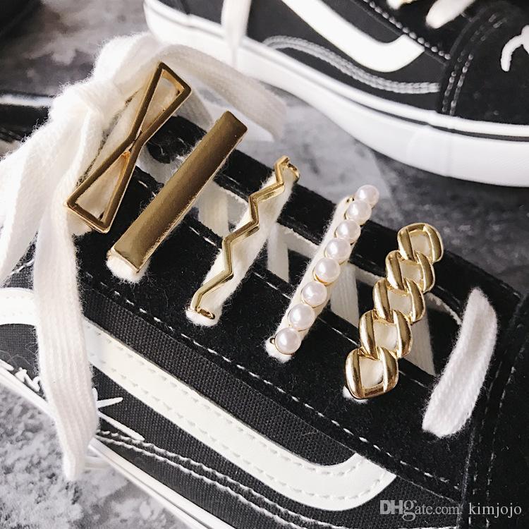 10 قطعة الراين أحذية الحذاء الديكور كليب الأزياء فو لؤلؤة الأحذية كليب سحر الحذاء ديكورات ل diy ديكور جلد الحذاء