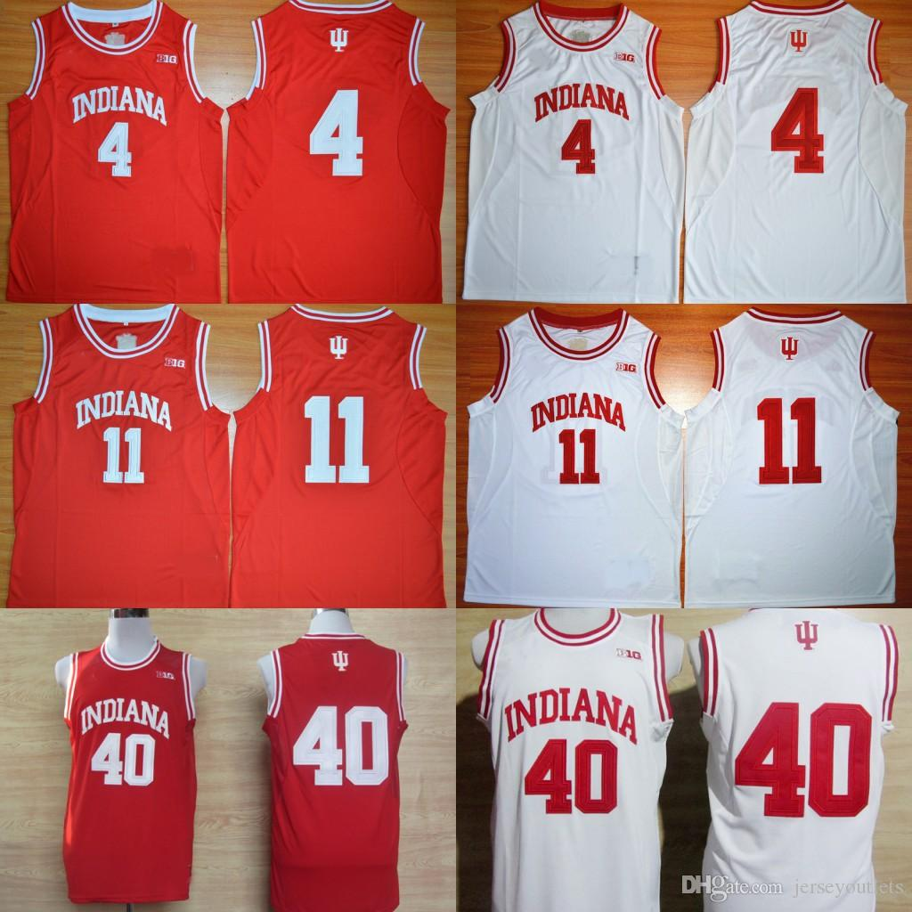 Indiana Hoosiers College Basketball Jersey University 4 Isiah Thomas 11  Victor Oladipo 40 Cody Zeller Shirts Retro Stitched Jersey Online with   21.31 Piece ... c7eb66902