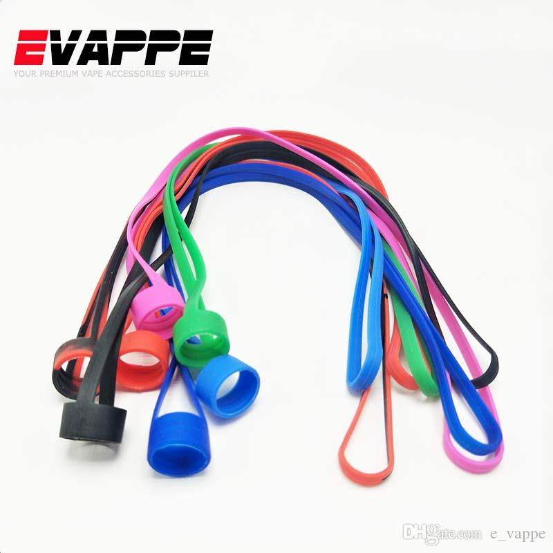 Colorful Silicone Ring Vape Band Silicone Lanyard Necklace for EGO AIO EGO ONE Vaporizer Tank 19mm-25mm