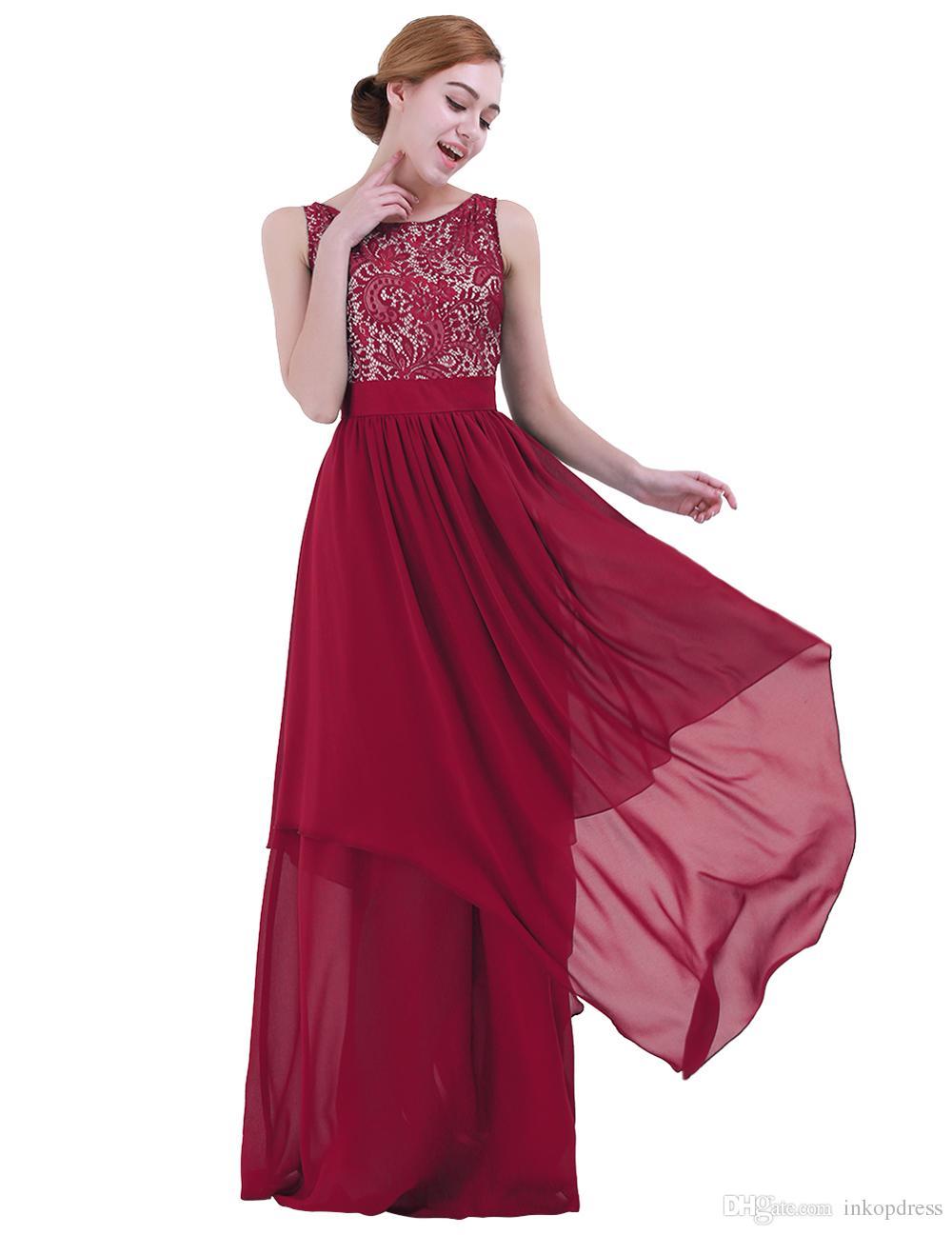 Heiße Verkäufe Frauen Sexy Maxi Kleid Vintage Spitze Chiffon Aushöhlen Kleid  Sleeveless Hochzeit Abendgesellschaft Prinzessin Pageant Kleider 7da538ccb8