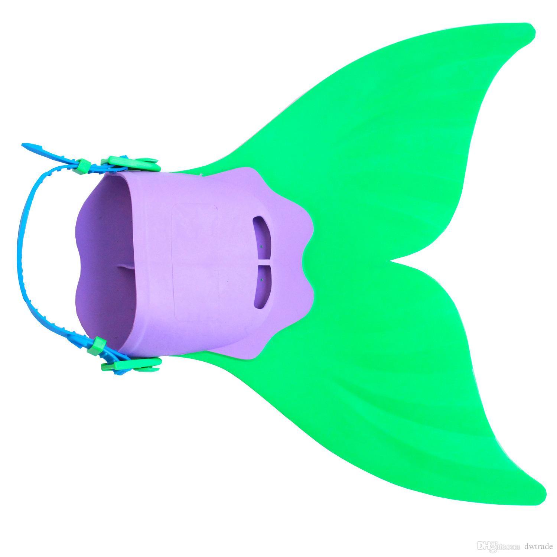 Einstellbare Mermaid Swim Fin Tauchen Monofin Schwimmen Fuß Flipper Mono Fin Fischschwanz Schwimmen Training für Kind Kinder Weihnachtsgeschenke