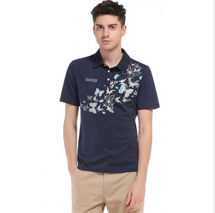 ed35b122d70 New Tops T-shirt Mens Pullover Lapel Short Sleeves T-shirts ...