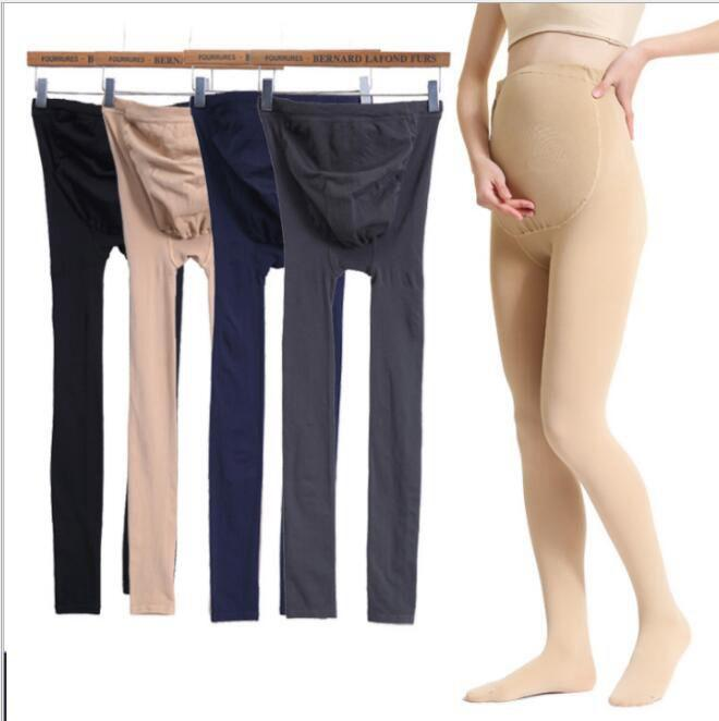 Adjustable Maternity Leggings For Pregnancy 320D High Elastic Leggings Pregnant Clothes Pants For Women Stockings KKA6268