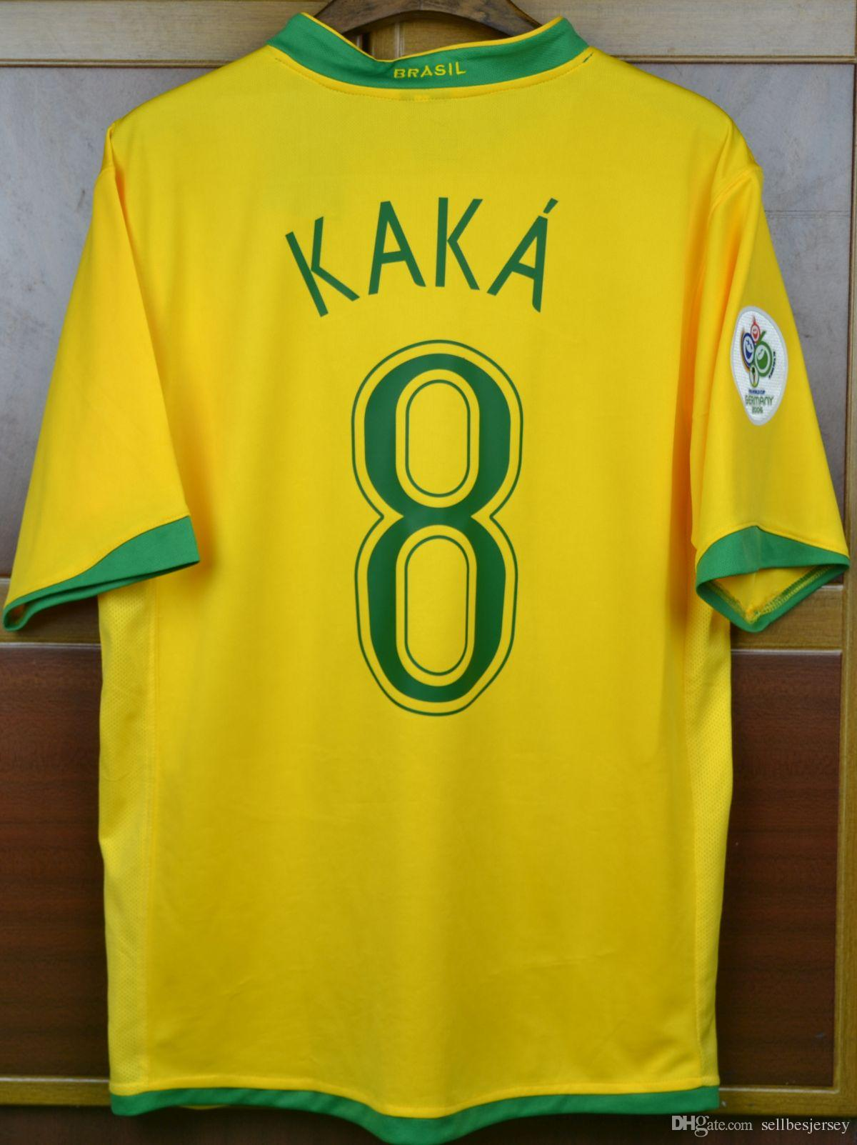 f84895ac9 2019 Brasil 06 WC Jersey Retro Jersey Brazil 2006 Ronaldo KAKA Carlos  Ronaldinho Adriano Jerseys Shirt Short Sleeve From Sellbesjersey