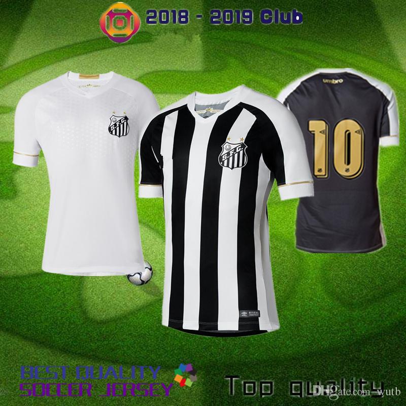 46f4b9e5c21 Camiseta De Fútbol Santos FC 18 19 Santos 2018 2019 Local Lejos Camiseta De  Fútbol RODRYGO DODO RENATO SASHA De Gabriel Por Wutb