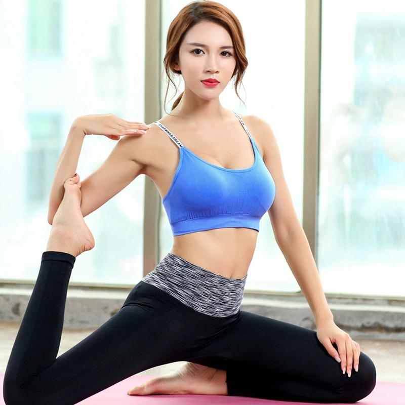 12fa3adfdf 2019 Women Running Fitness Gym Yoga Quick Dry Bra Vest Tank Top Sexy Cute  Brand Bandage Strap Shoulder Letter Printed Sport Bra From Sports86
