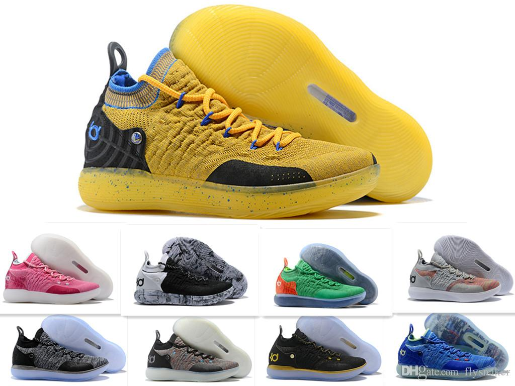 8d3f11daa331 AAA+Quality 11s KD11 BHM Paranoid Home Blue Yellow Basketball Shoes Men KD  11 Classic Sneakers Size 7 12 Lightweight Running Shoes Girls Running  Sneakers ...