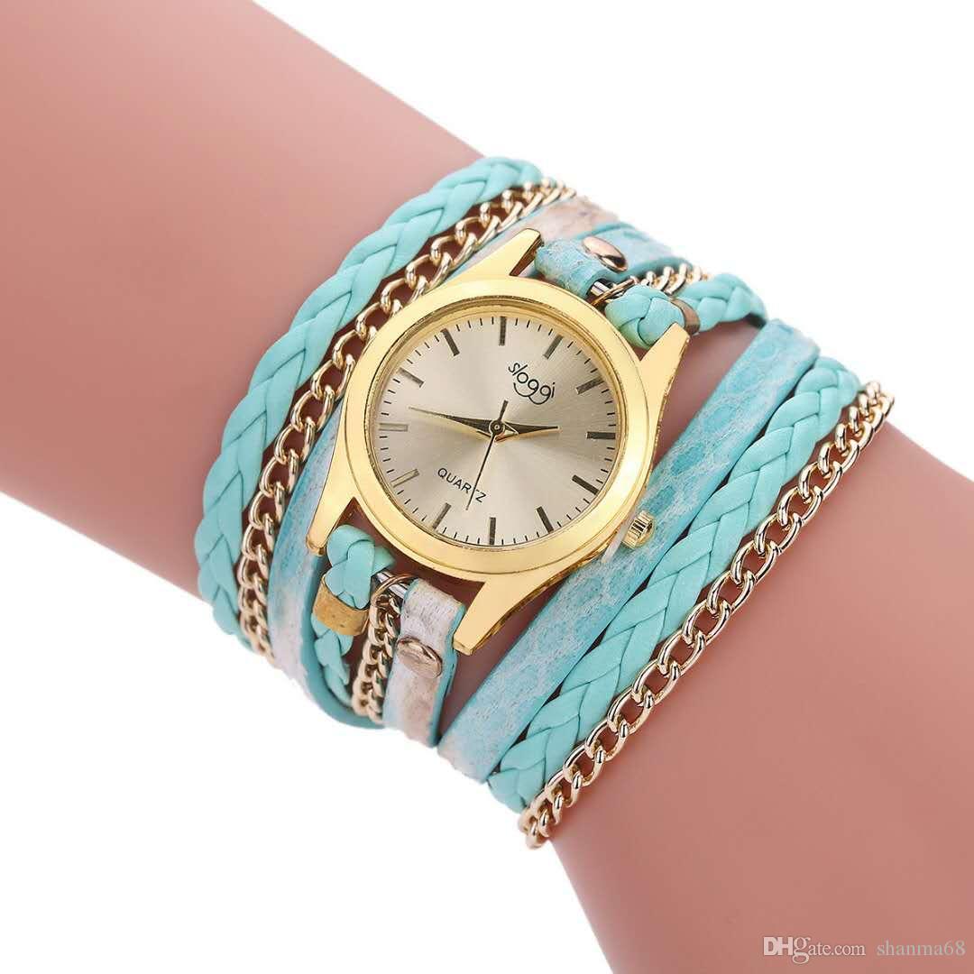2018 NEW TOP LADIES winding bracelet watch, serpentine fashion, retro brand design style, sports leisure watch wholesale mail