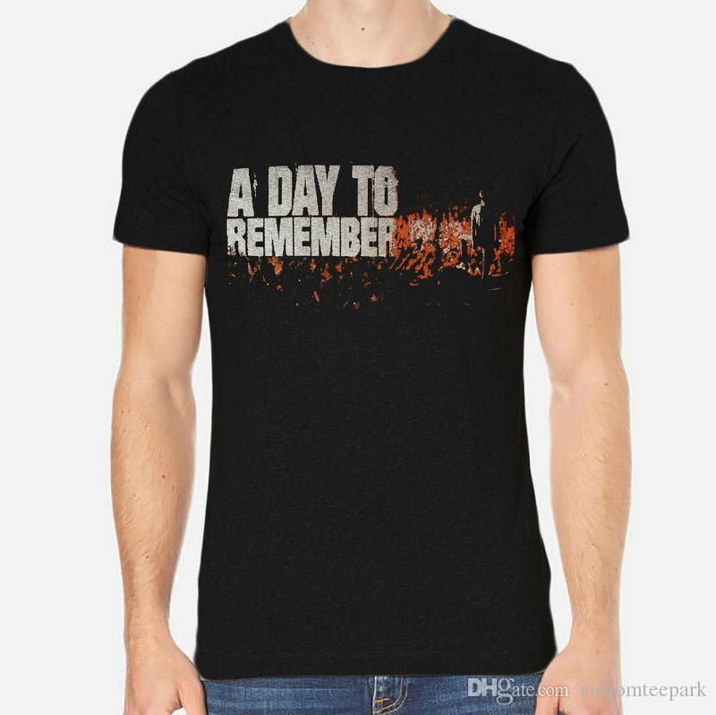 A Day To Remember Rock New Men T-Shirt Black Clothing 1-A-009 T-shirt Men Boy Casual White Short Sleeve Custom Plus Size Party T Shirts
