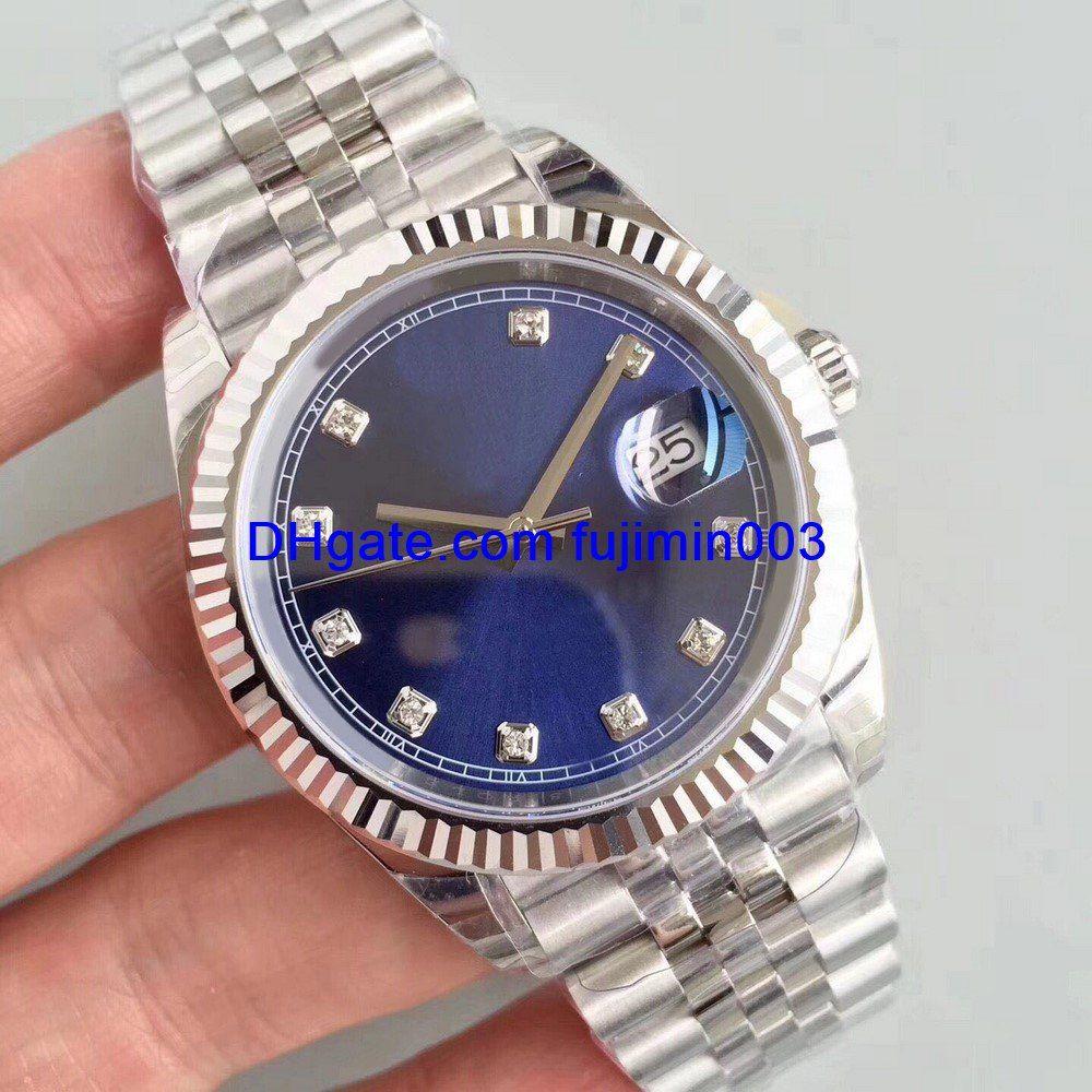 dd312c13865 Compre 2 Cor Marca De Luxo Relógio Homens 40mm Relógio Mecânico Automático  Nenhum Movimento De Varredura Da Bateria Relógio De Aço Inoxidável AAA Data  ...