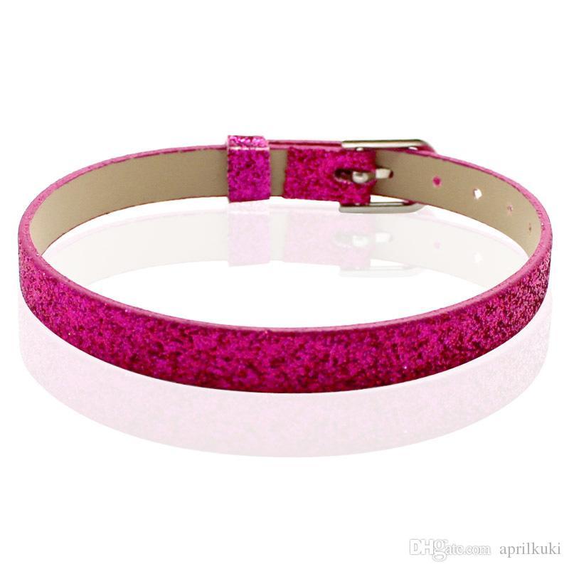 Fashion DIY Jewelry 8mm Leather Bracelet Slide Charm Bracelets Personalized Bracelet Fit for 8mm Slide Letters/Floating Charms