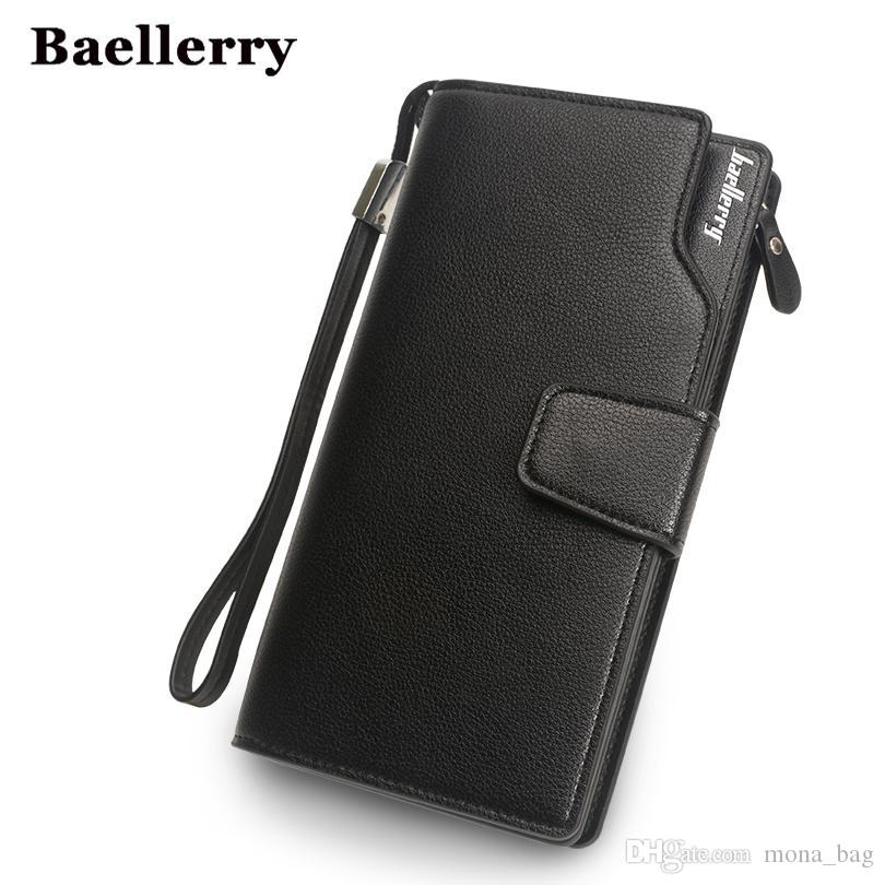 9ff13bbb2d31 Baellerry Wallet Men Top Quality Leather Wallet Purse Fashion Casual ...