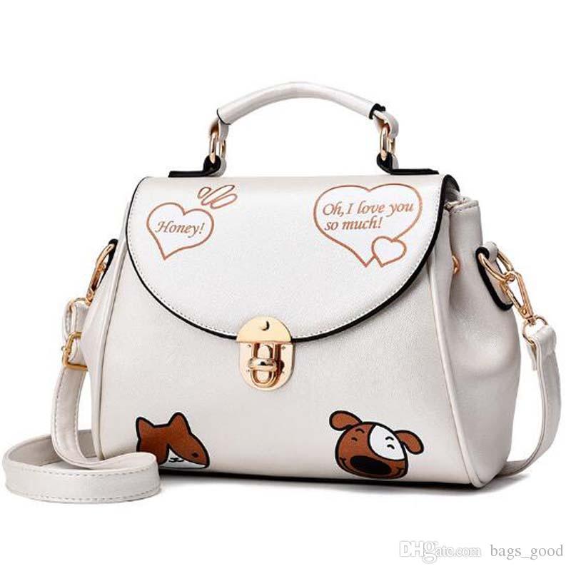 New Cat and Dog Animal Prints Women Messenger Bags Crossbody Bag Woman Leather Handbags Ladies shoulder bag
