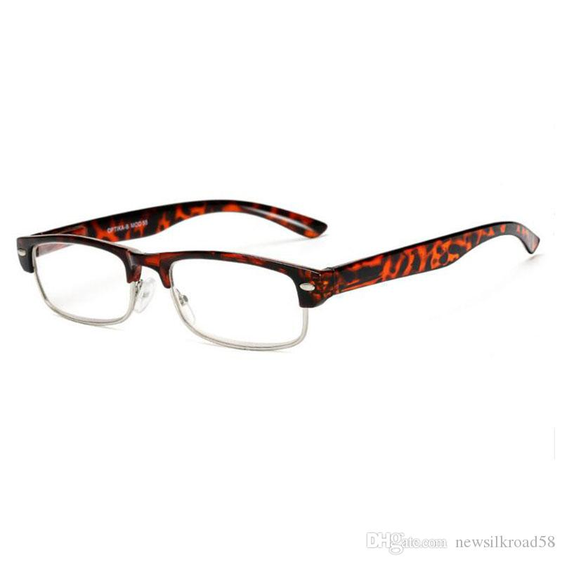 89028dd88bf7 Brand Designer Half Frame Coating HD Lens Anti Fatigue Reading Glasses High  Quality Women Men Presbyopic Eyeglasses Reading Glasses With Rhinestones ...