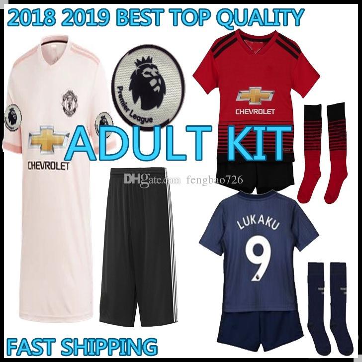 2019 Adult KIT 2018 2019 Manchester POGBA Soccer Jerseys 18 19 United  Football Shirt ALEXIS LINDELOF RASHFORD MKHITARYAN LUKAKU MARTIAL JERSEY  From ... 73ff584fa