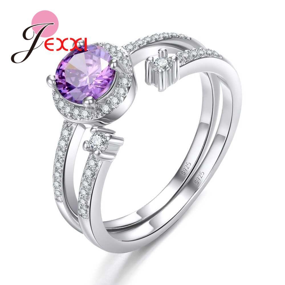 2019 JEXXI Romantic Purple Round Rings For Beautiful Women Best Anniversary  Gifts 925 100% Sterling Sier Rhinestone Factory Price From Zizuo 45eb2ec3fc