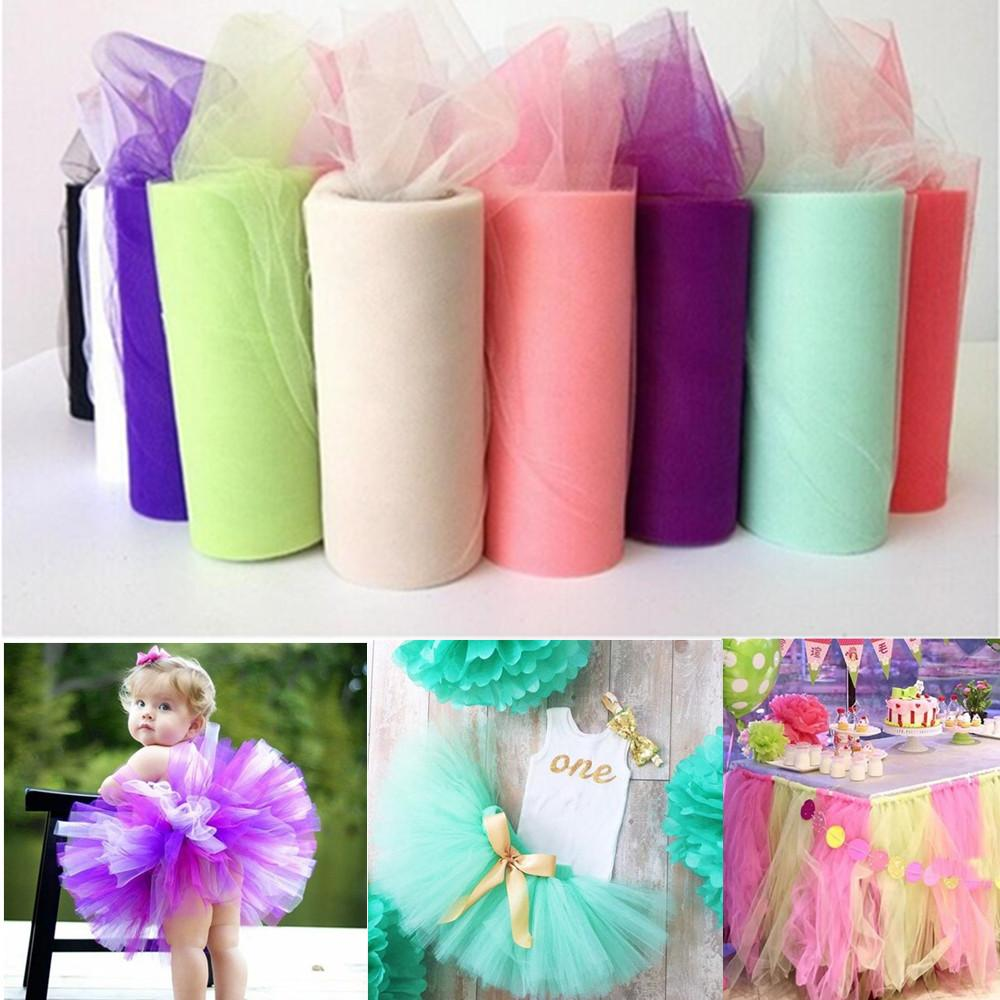 ZLJQ Crystal Tulle Roll Organza 15cmx22.5m Roll Sheer Gauze For Table Runner And Home Garden Wedding Party Decoration 6D