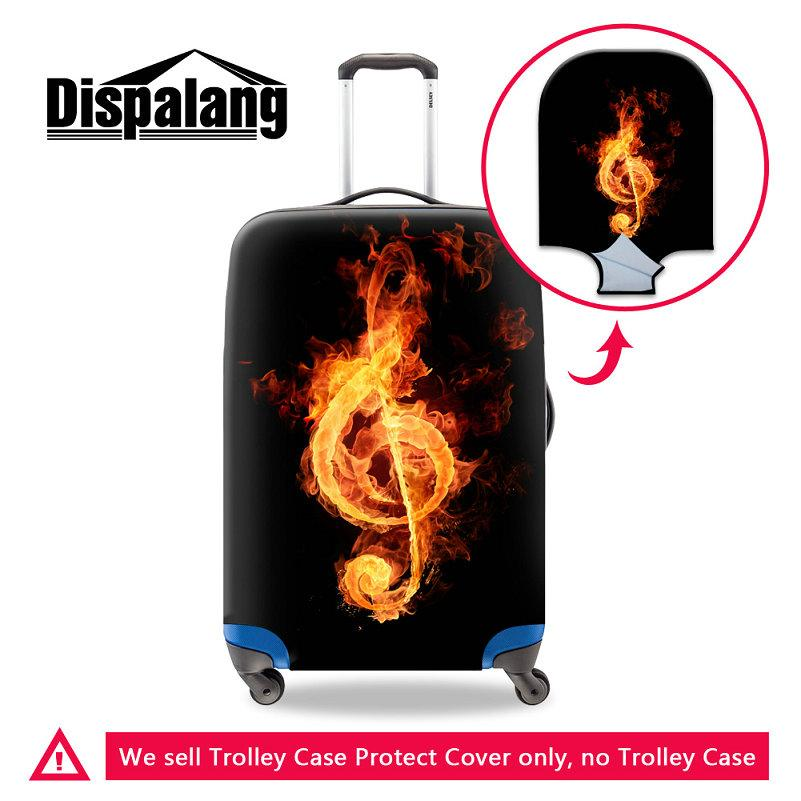 Cartoon Music Printing Case On Suitcase Travel On Road Luggage Protective Covers For 18~30 Inch Cases Musical Note Women Waterproof Cover