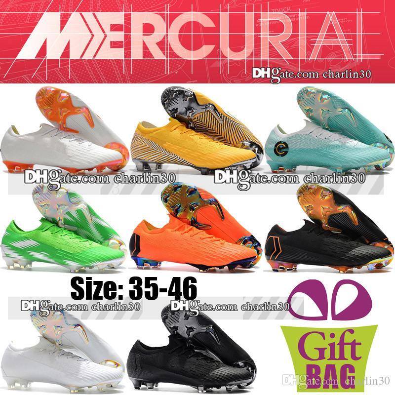 separation shoes f5e13 1ad55 New Boys Women Neymar Football Boots Kids Soccer Shoes Cristiano Ronaldo  Superfly CR7 Mercurial Vapor XII Elite FG ACC Socks Soccer Cleats