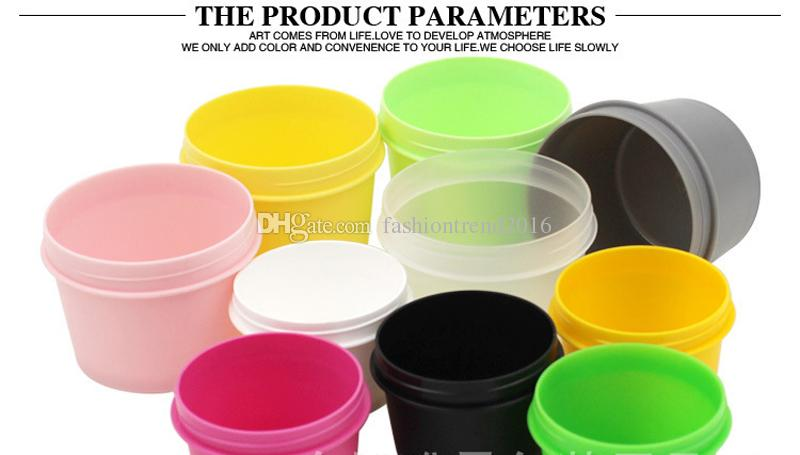 50g/100g Plastic Mask Bowl Facial Cream Jars Powder Case with Lid Gel Cosemtic Packaging Container Wholesale