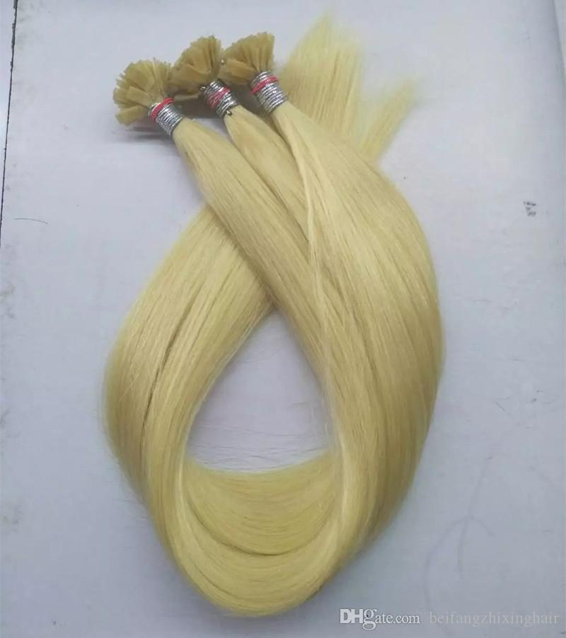 Pre Bonded Flat Tip human Hair Extensions 100g 100Strands 14 16 18 20 22 24 26inch Keratin Hair products
