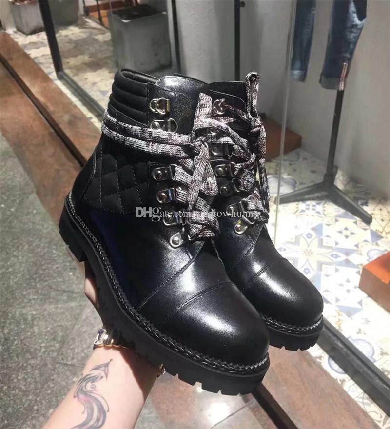 8b720181072b4 Fashion Thigh High Boots Brand Botas Mujer Lace Up Chelsea Boots Real  Leather Short Ankle Boots Chains Dress Shoes Woman Flats Low Boots Cheap  Shoes Online ...