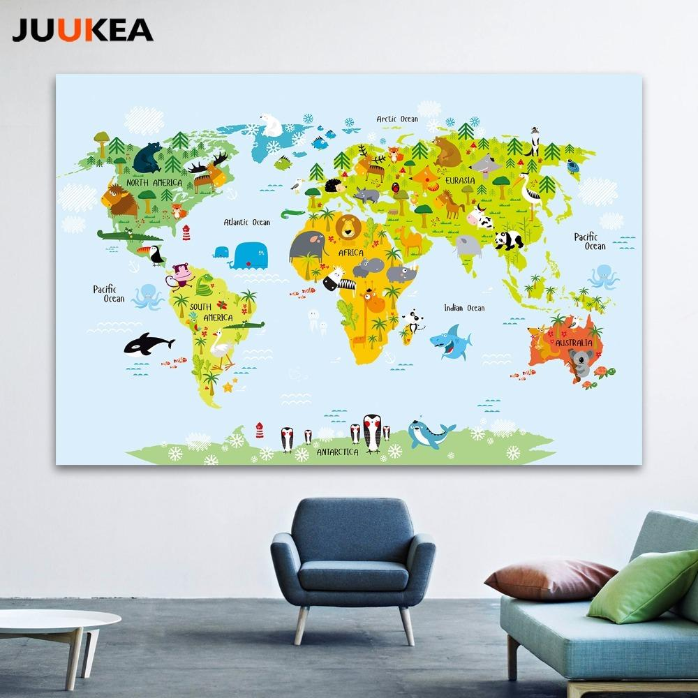 2019 Canvas Art Print Painting Poster, Cartoon Children Kawaii ...