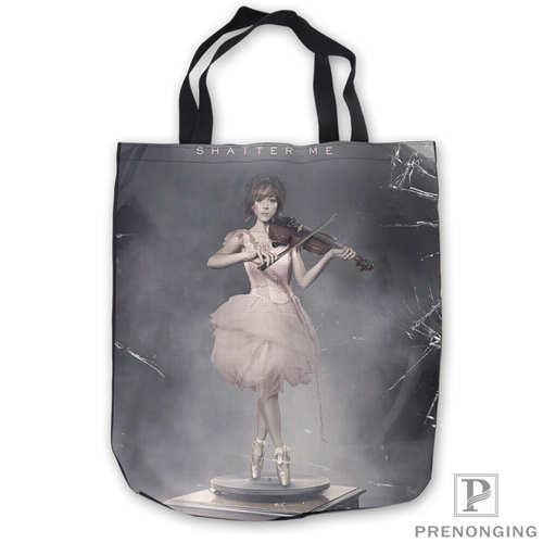 Custom Canvas lindsey-stirling-music- Tote Shoulder Shopping Bag Casual Beach HandBag Daily Use Foldable Canvas #180713-07-23