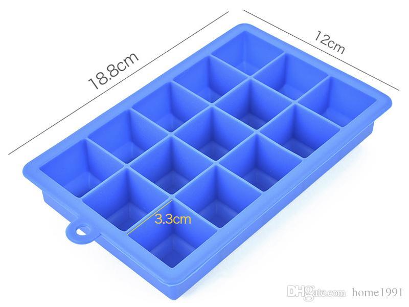 Nouveau 15 Carrés Cube Silicone Ice Ball Cube Plateau Moule De Glace Plateau De Cube De Glace Boîte De Fabrication De Glace Moule pour Bar Party Outils