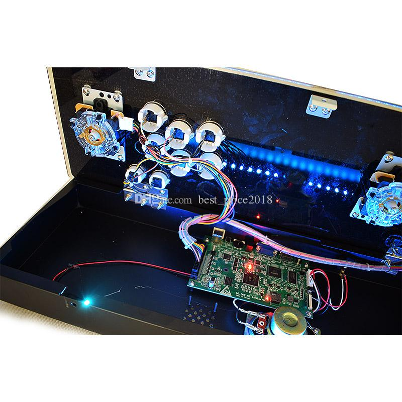 판도라 5S 저장할 수 1299 1388 경기 아케이드 콘솔 USB 조이스틱 아케이드 버튼 라이트 1 플레이어 2 플레이어 컨트롤 레트로 아케이드 게임 박스