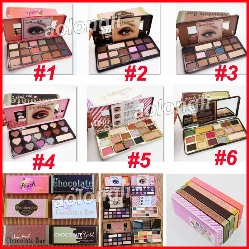 Faced Makeup Sweet peach Eyeshadow white Chocolate Bar bons Semi-sweet Chocolate Gold 16 Color Shimmer Matte Eye shadow Palette free DHL