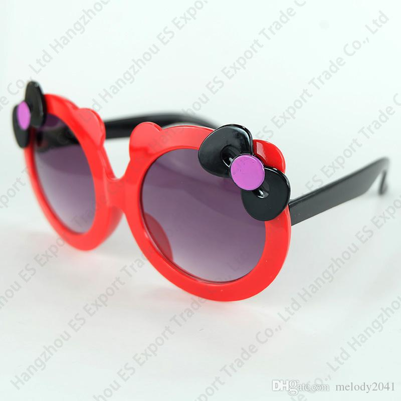 New Lovely Colorful Flower Kids Sunglasses Round Frame Pretty And Cute Design Cheap Wholesale Eyewear