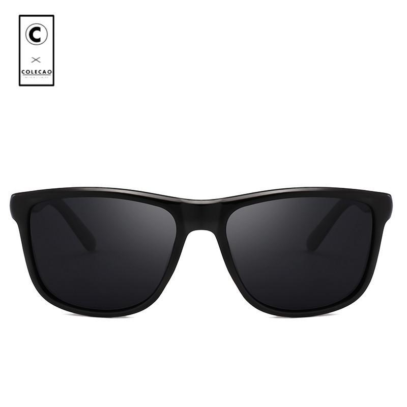 b1005ff8ac9fb COLECAO 2018 Rectangle Sunglasses Men Polarized Sun Glasses Driving ...