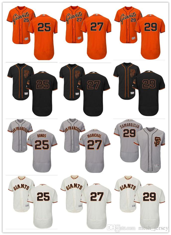 7a1b11edb46 Custom Men Women Youth SF Giants Jersey  25 Barry Bonds 27 Juan ...