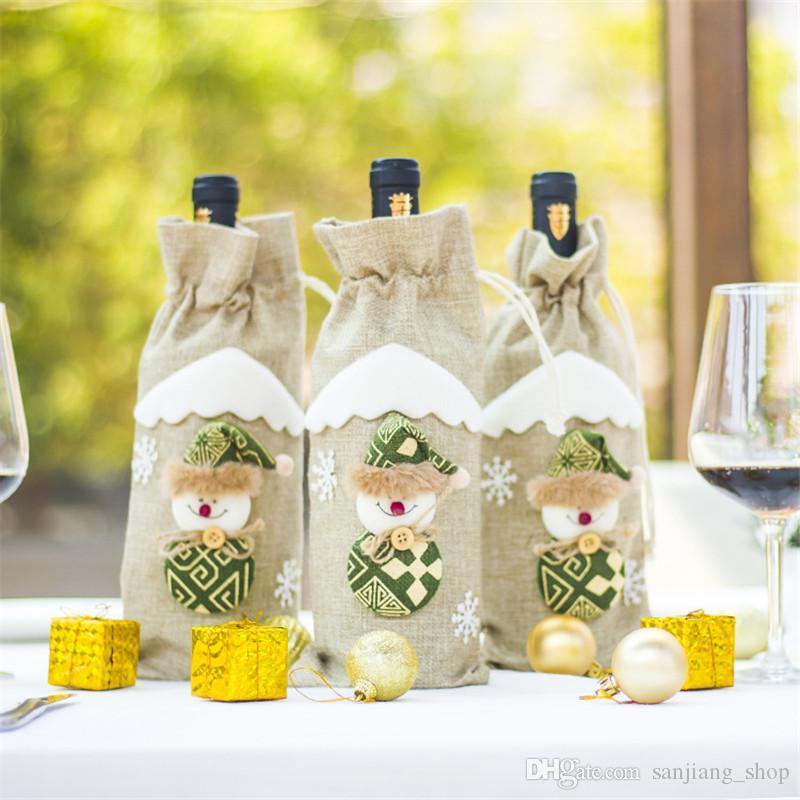 Dessin A Imprimer Bouteille De Vin acheter noël bouteille de vin couvre bande dessinée bouteille sacs
